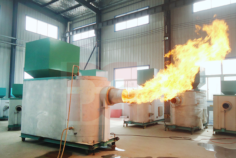 Biomass pellet burner machine